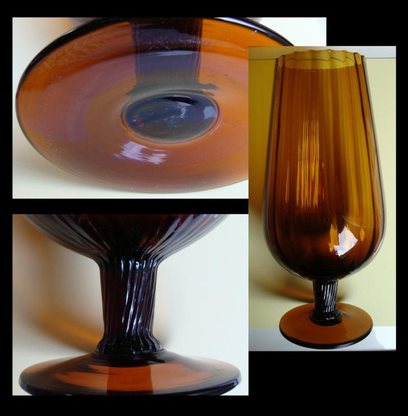 Large brown glass vase Bbv10