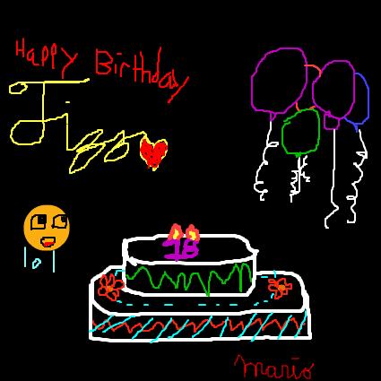It's fizz's birthday... Doodle10