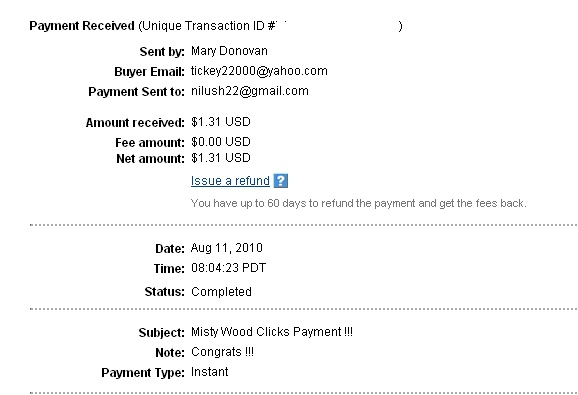 My 1st payment :) Misty_10