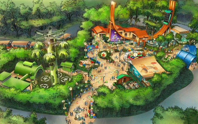 Toy Story Playland ( Walt Disney Studio) Map42210