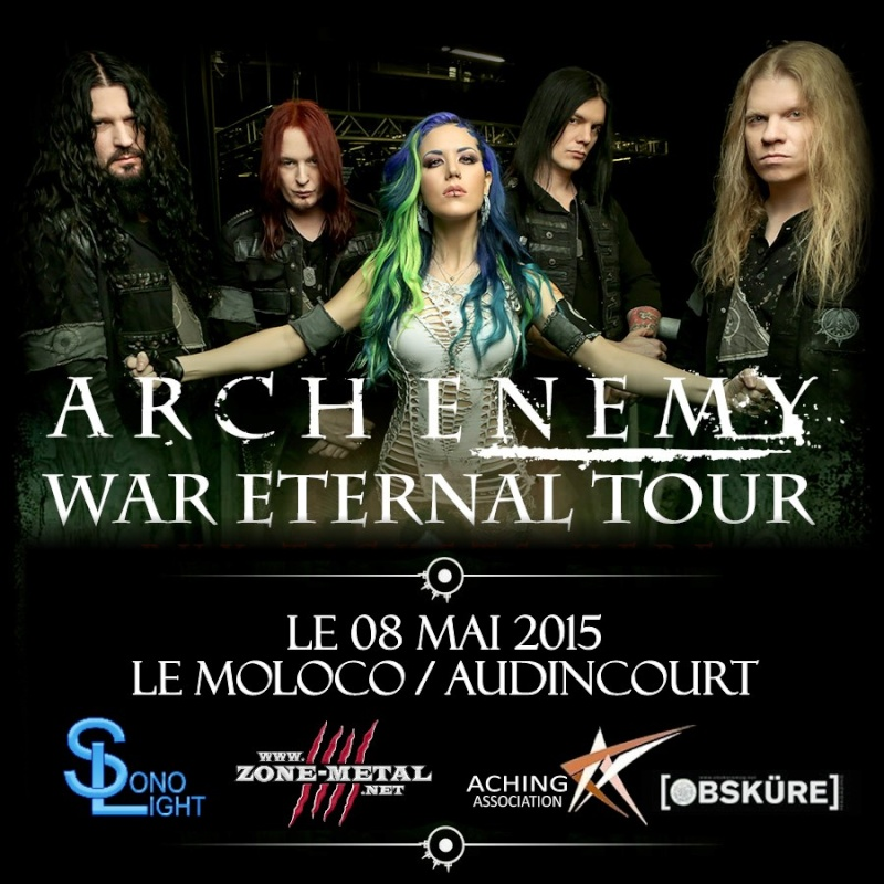 ARCH ENEMY + UNEARTH + DRONE 08/05/15 Audincourt Tour2010