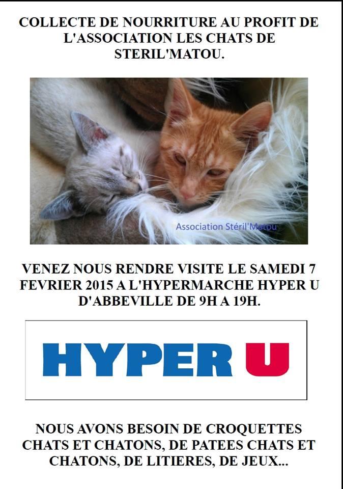 Collecte de nourriture à Hyper u le 7 février 2015 14850810