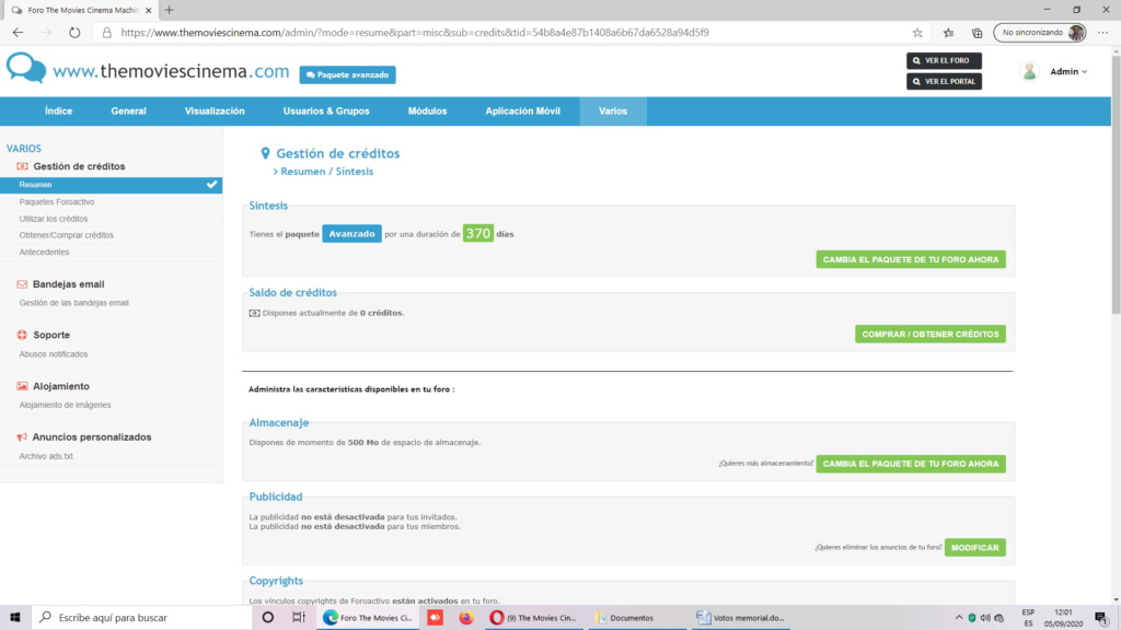 Renovado por un año dominio .com y paquete avanzado Sin_tz10