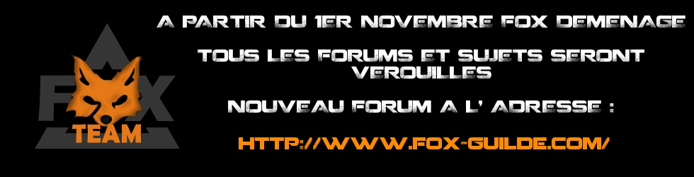 FOX Guilde - Forum