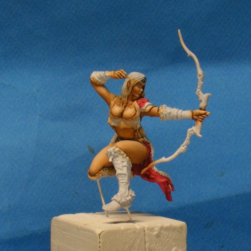 Shauna and the wolf  : DRACONIA miniatures 54mm 00124