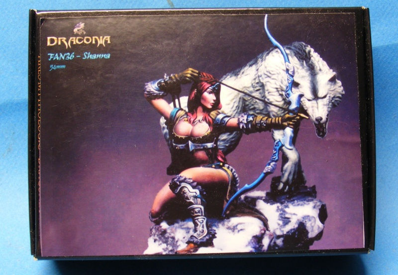 Shauna and the wolf  : DRACONIA miniatures 54mm 00219