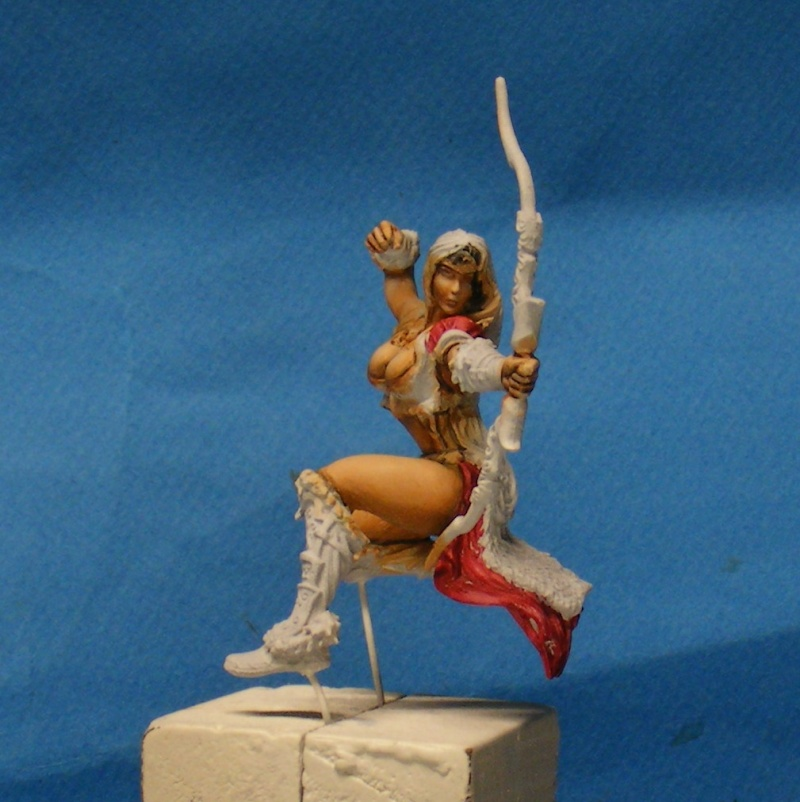 Shauna and the wolf  : DRACONIA miniatures 54mm 00224