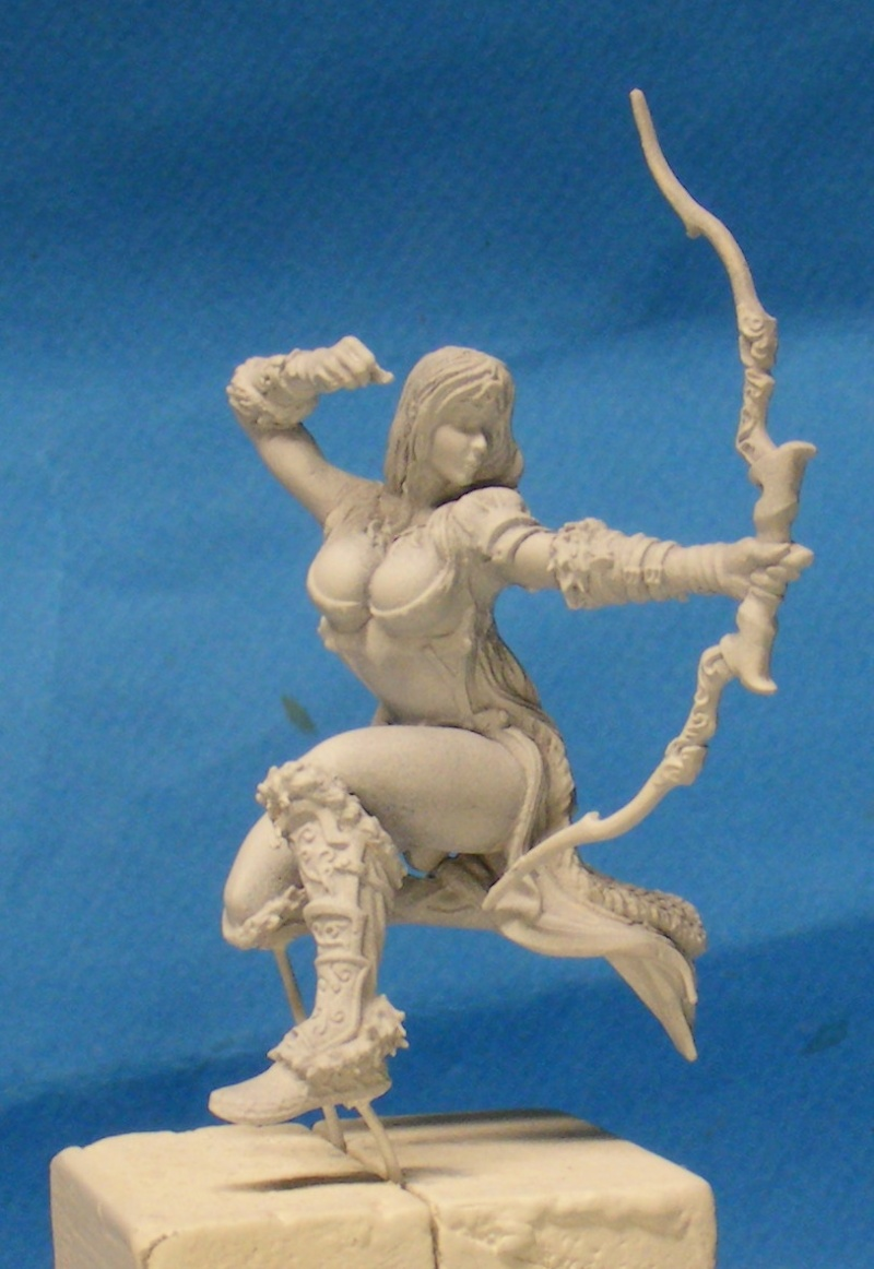 Shauna and the wolf  : DRACONIA miniatures 54mm 00321