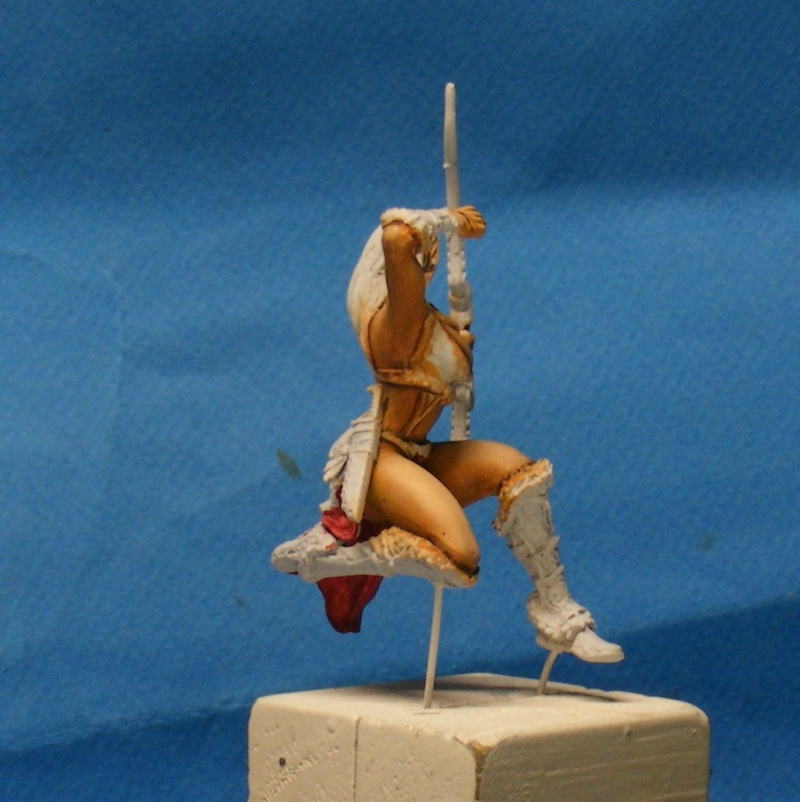 Shauna and the wolf  : DRACONIA miniatures 54mm 00324