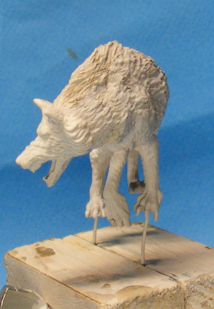 Shauna and the wolf  : DRACONIA miniatures 54mm 00414