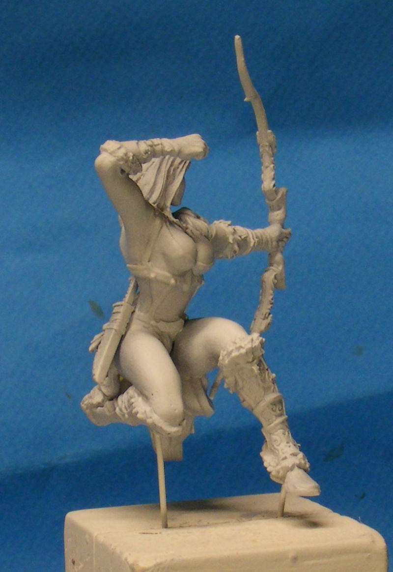 Shauna and the wolf  : DRACONIA miniatures 54mm 00416