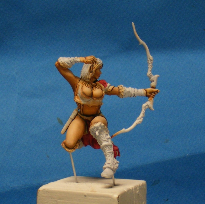 Shauna and the wolf  : DRACONIA miniatures 54mm 00418
