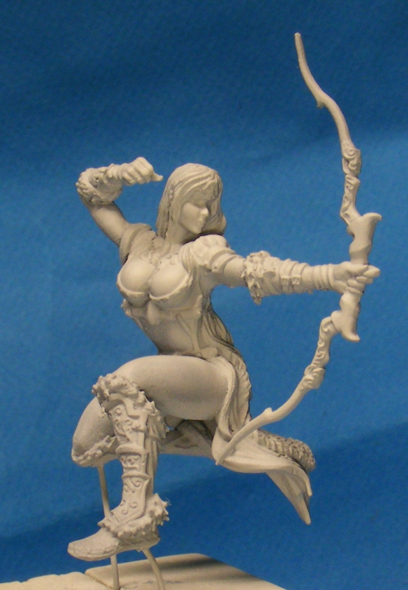 Shauna and the wolf  : DRACONIA miniatures 54mm 00612