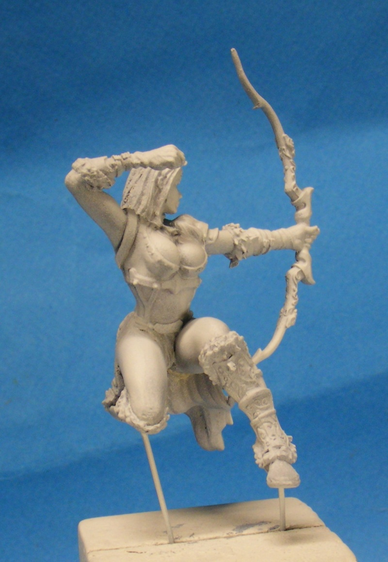 Shauna and the wolf  : DRACONIA miniatures 54mm 00810