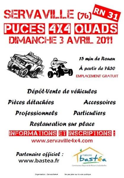 Puces 4x4 servaville Affich12