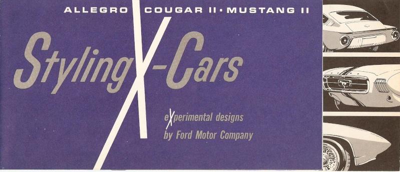 Pamphlet Styling-Cars: Experimental designs: Allegro-Cougar II-Mustang II Mustan12