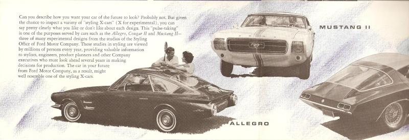Pamphlet Styling-Cars: Experimental designs: Allegro-Cougar II-Mustang II Mustan13