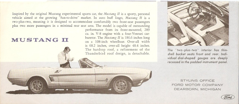 Pamphlet Styling-Cars: Experimental designs: Allegro-Cougar II-Mustang II Mustan16