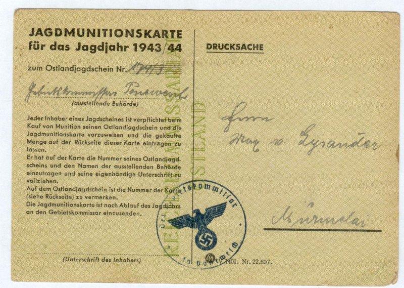 chasseurs allemands et service de foret Muniti10