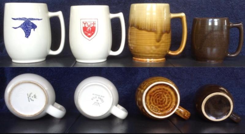 Castware mugs: 1000, 1010, 1054, 1044 Castwa10
