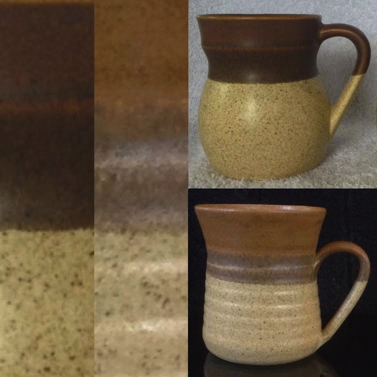 TWO handpotted Parker Pottery mugs Hpp210