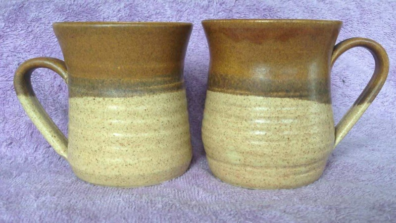 TWO handpotted Parker Pottery mugs Hppm2110