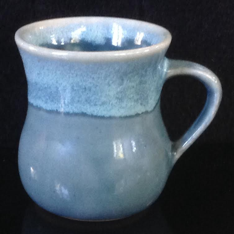 Kermiko standard mug, different glazes Kblue10