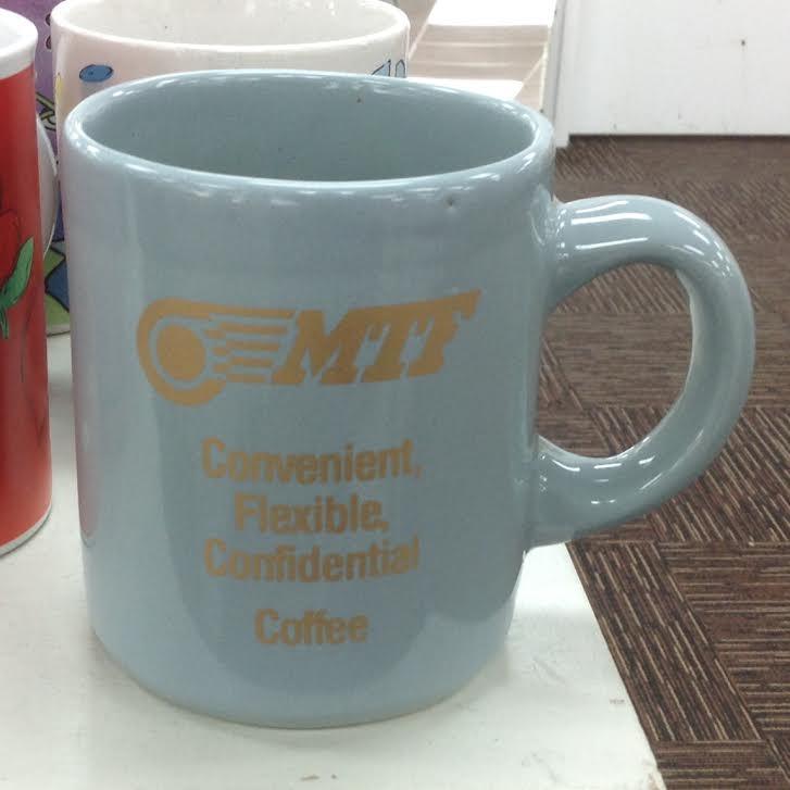 slipcast mug using Crown Lynn shape Slipca10