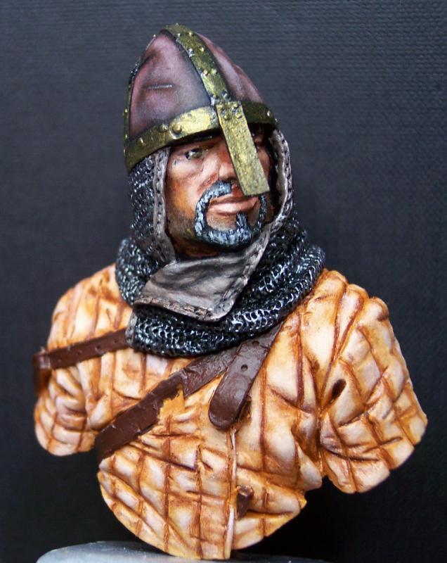 Young Miniatures Büste 1/10 Norman Knight Hastings 1066  Kopf0310