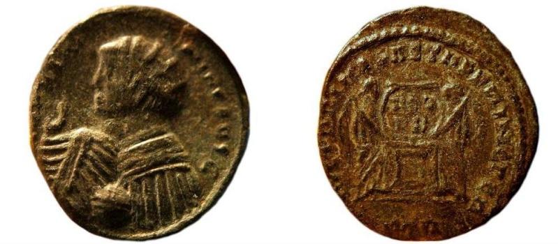 Pseudo-argenteus non publié de Maximin II Daïa frappé à Trèves (hybride ?) 55802210