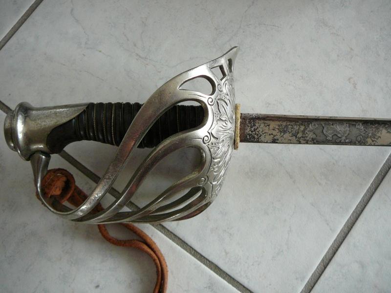 Sabre mle 1890 d'officier de cavalerie, Dérué. P1190311