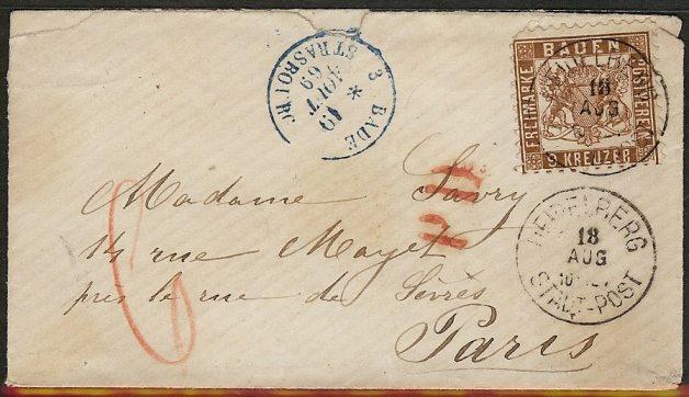 BADEN, 9 Kreuzer braun von 1862 20_a_o10