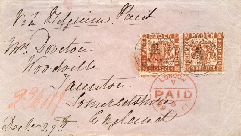 BADEN, 9 Kreuzer braun von 1862 20_a_p10