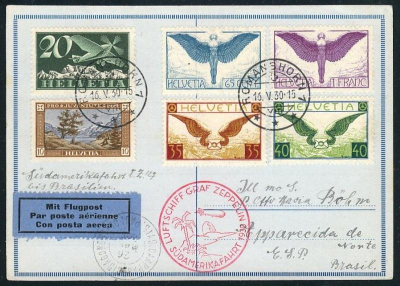 nach - Südamerikafahrt 1930, Post nach Rio de Janeiro 57_m_s10