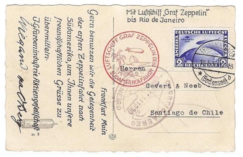 nach - Südamerikafahrt 1930, Post nach Rio de Janeiro 57_m_w10