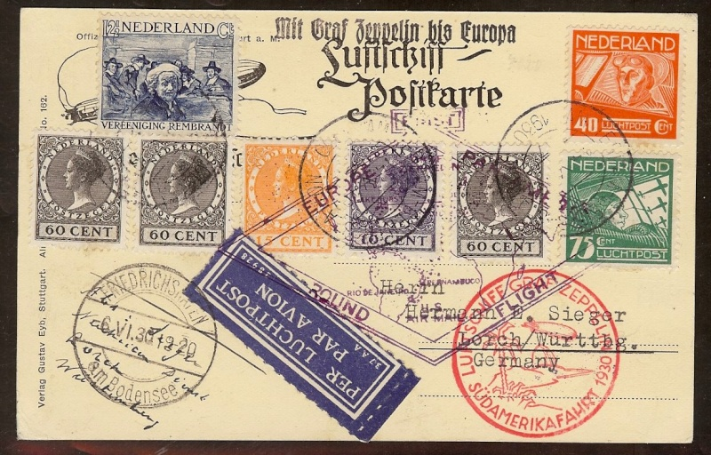 """Südamerikafahrt 1930 (Rundfahrt-) Post nach Friedrichshafen"""" - Seite 5 57_p_n10"""