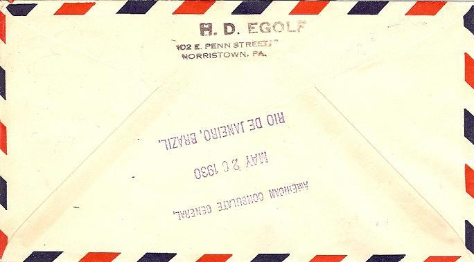 nach - Südamerikafahrt 1930, Post nach Rio de Janeiro 59_a_r11