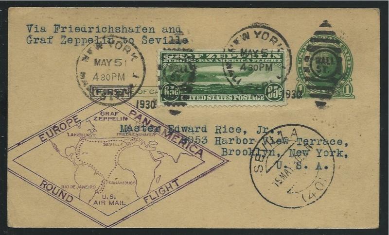 Südamerikafahrt 1930, Post nach Sevilla 64_a_s10