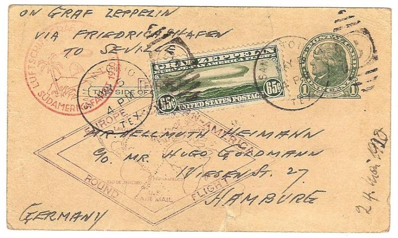 Südamerikafahrt 1930, Post nach Sevilla 64_a_s11