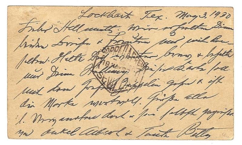 Südamerikafahrt 1930, Post nach Sevilla 64_a_s12