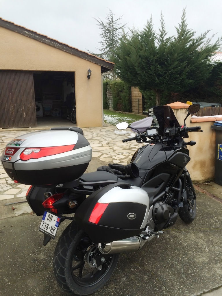 Test Equipements et sortie temps froid Honda NC 750 X Img_6214