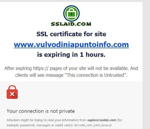 Connessione non sicura Sslaid10