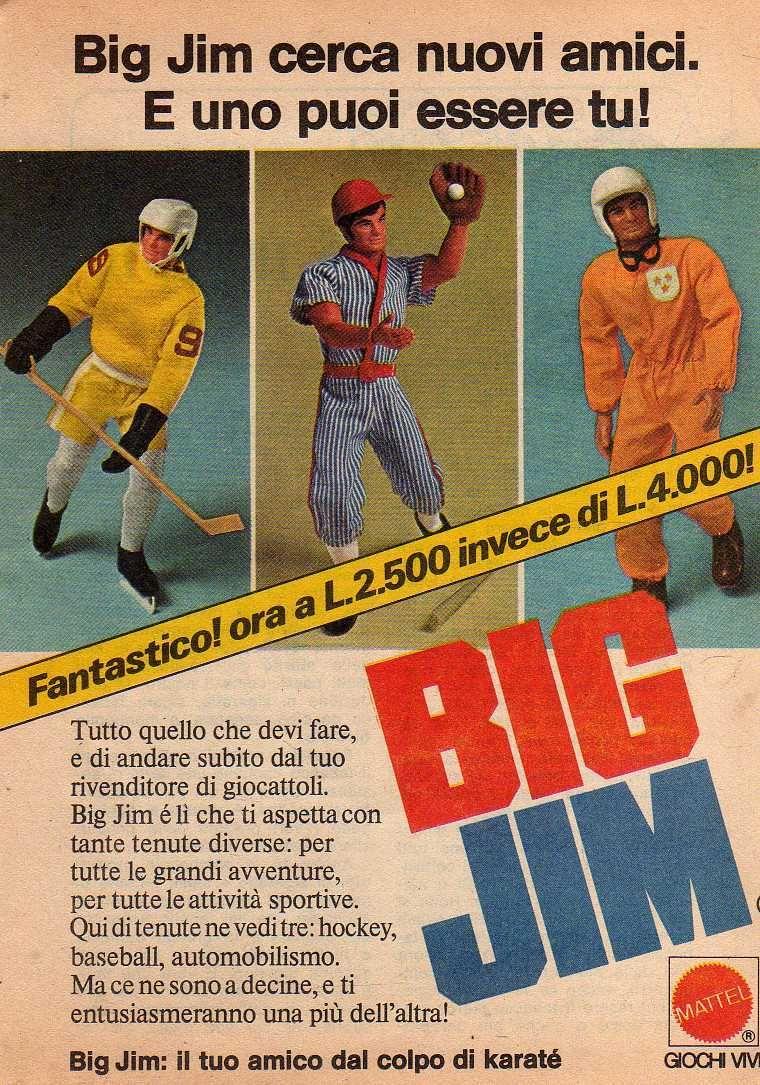 PUBBLICITA' ITALIANE BIG JIM - I PRIMI ANNI _5726