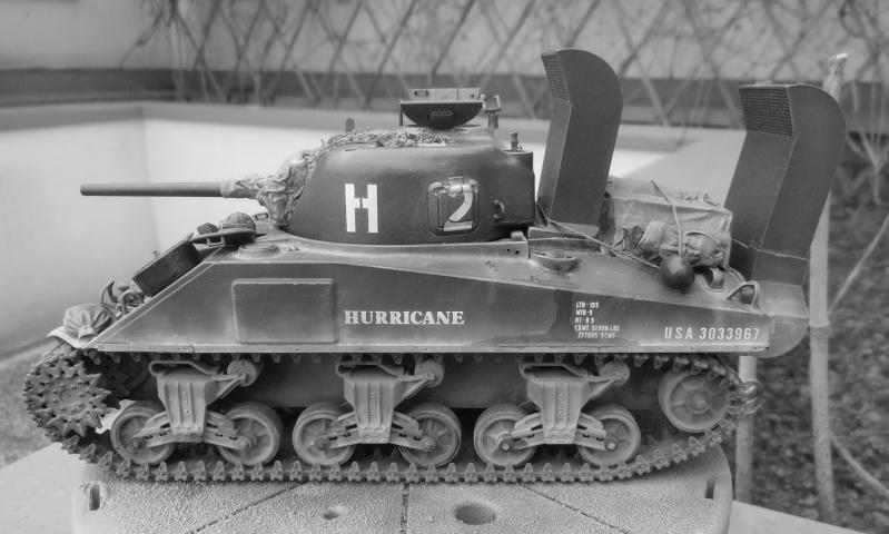 """Sherman M4   """" deep wading """" ( tamiya 1/35eme ) - Page 2 P1261010"""