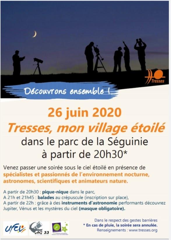 TRESSES, MON VILLAGE ÉTOILÉ, vendredi 26 juin 2020 - ANNULÉE 20200610