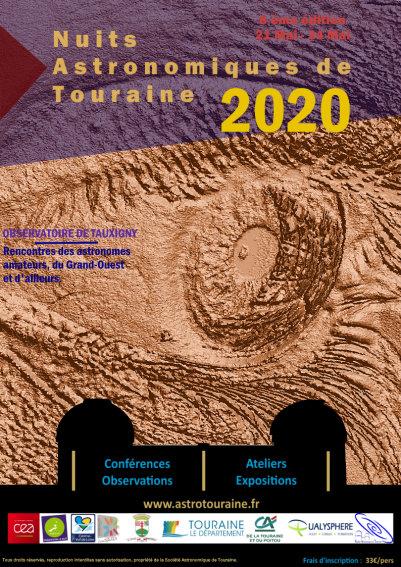 NUITS ASTRONOMIQUES DE TOURAINE 2020 du jeudi 21 au dimanche 24 mai 2020 Affich13