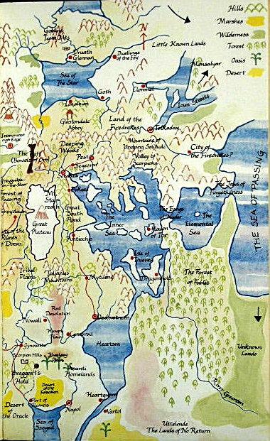 Cartes des Voie du Tigre en couleurs issues de l'édition UK Waytig13