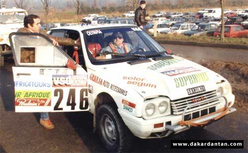 Des VISA au DAKAR 1986 ... 85-24610