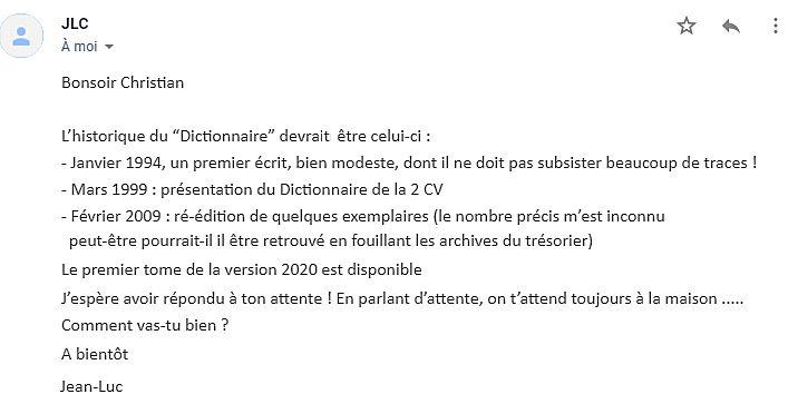 LE DICTIONNAIRE DE LA 2CV TOME 1 de A à Z Jlc10