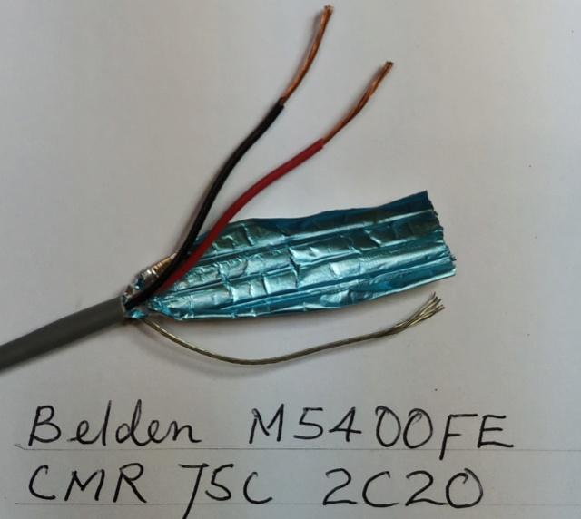 Belden 5400FE wires Belden11